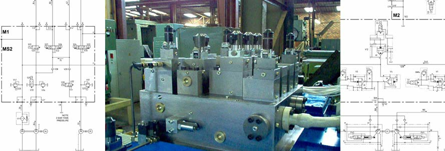 Manifold Station 2500 ton extrusion press